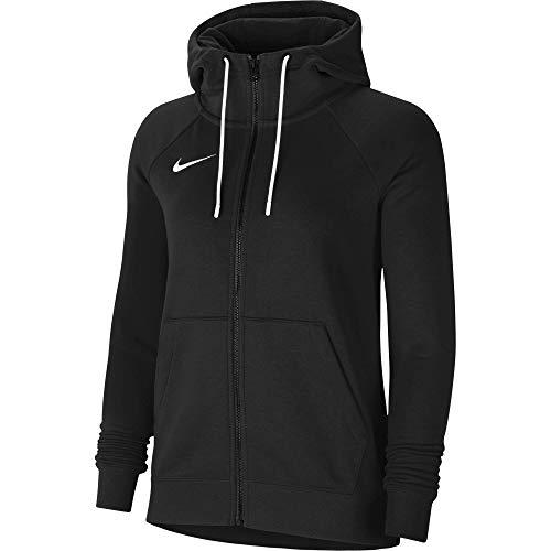 Nike Park 20, Felpa con Cappuccio E Zip Donna, Nero/Bianco/Bianco, S