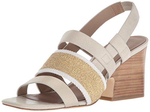 Donald J Pliner Women's MAE Heeled Sandal, Platino, 9 Medium US