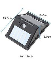 مصباح حائط من 16 ضوء ال اي دي يعمل بالطاقة الشمسية بجهاز استشعار حركة، للاستخدام الخارجي