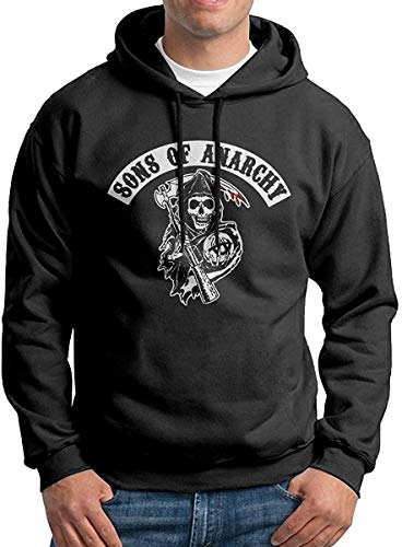 HKGJG Sons of Anarchy Reaper Crew Men\'s Pullover Hooded Sweatshirt