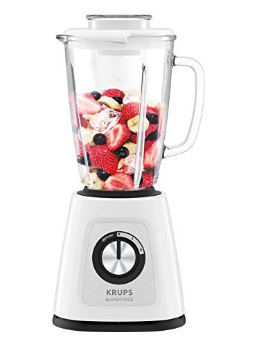 Krups KB4351 Blendforce+ Standmixer, 800, Glas, 1.25 liters, weiß