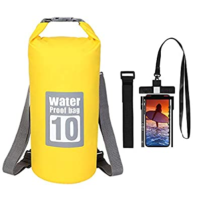 Amazon - Save 40%: Dry Bag Backpack – 10L 20L Roll Top Dry Bag Lightweight Floating Wat…