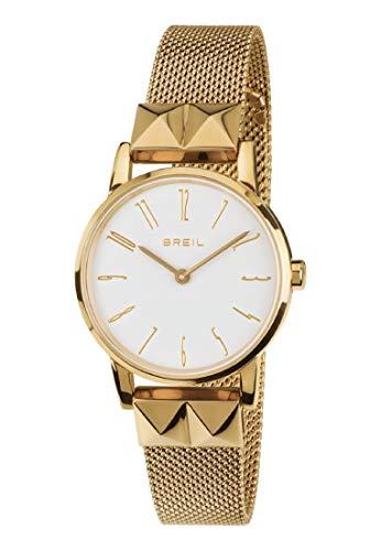 Orologio BREIL donna ROCKERS quadrante bianco e bracciale in acciaio oro, movimento SOLO TEMPO - 2H QUARZO