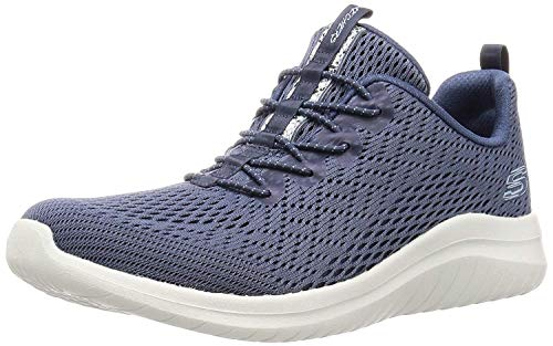 Skechers Women\'s ULTRA FLEX 2.0 - LITE-GROOVE Trainers, Grey (Slate Mesh/Lt Blue Trim Slt), 6 (39 EU)
