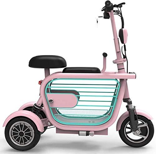 AA100 Folding Elektro-Dreirad, Erwachsene Elektroroller, leicht ältere Behinderte Outdoor-Freizeit-elektrisches Dreirad 48V / 13AH / gefahrene 45km / + Haustier Käfig