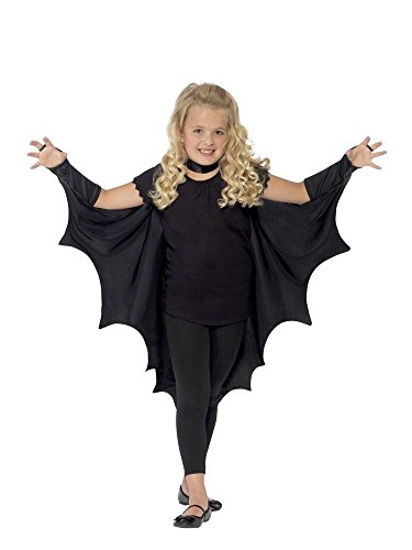 shoperama Alas de murciélago para niños de Vampiro, disfraz de Halloween, capa para niños