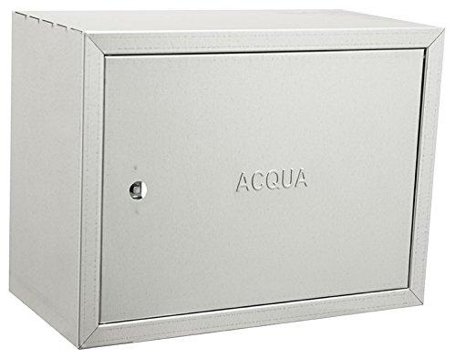 Caja galvanizada de acero inoxidable para contadores de agua–Distintos tamaños, acero galvanizado.
