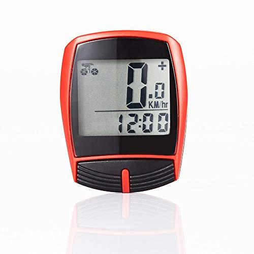 WSXD Fahrradcomputer Fahrradtachometer Radfahren Wried Stoppuhr Odometer Computer-wasserdicht Digital-Fahrrad-Geschwindigkeitsmesser-Fahrrad-Zubehör (Color : Wired Blue)