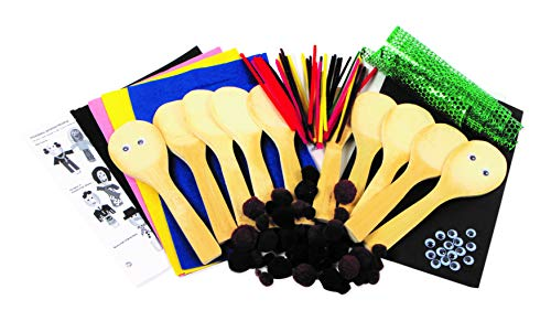 Creation Station CT3757 People Wooden Spoons Kit Class Pack, Pack of 10, 34.4 x 28.4 x 3.6 cm