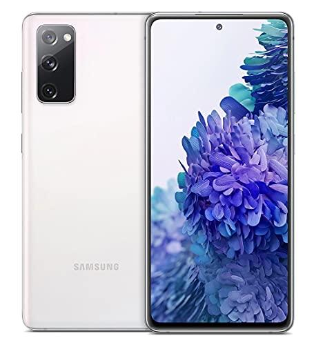 "Samsung Smartphone Galaxy S20 FE, Display 6.5"" Super AMOLED, 3 Fotocamere Posteriori, 128 GB Espandibili, RAM 6GB, Batteria 4.500mAh, Hybrid SIM, 2021, Snapdragon 865, Cloud White [Versione Italiana]"
