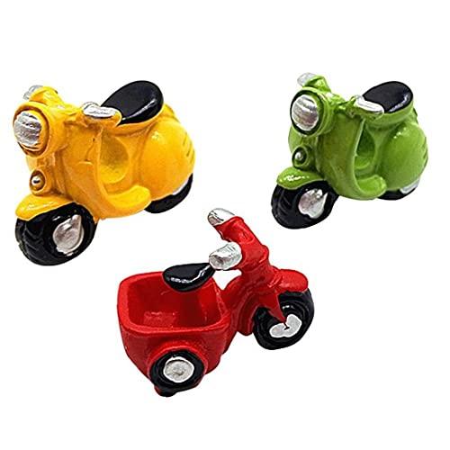 3 Pc Mini Motocicleta Triciclo Ornamento Ornamento De DIY Transporte Micro Dollhouse Miniature Hada del Jardín Decoración del Hogar