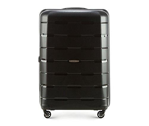 WITTCHEN Koffer – Großer | hartschalen, Material: Polypropylen | hochwertiger und Stabiler | Schwarz | 101 L | 78x52x29 cm