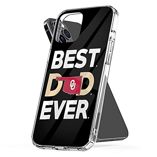 Phone Case Oklahoma Waterproof Sooners Funny Best Pc Dad TPU Ever Clear Compatible for iPhone 6 6s 7 8 X Xs Xr 11 12 Se 2020 Pro Max Plus