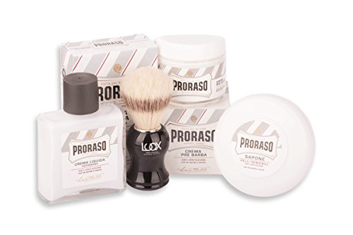 Proraso Shave Kit Rasurset Sensitiv: Luqx Rasierpinsel Proraso Pre Shave Cream Rasierseife After Shave Balsam