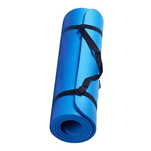 Tappetino yoga antiscivolo, 60 x 25 x 1,5 cm ,Addensato,Tappetino per Fitness Senza Ftalati,Esercizio all'aperto, Palestra e famiglia, perdere peso , Yoga, Pilates, Tracolla (small blu)