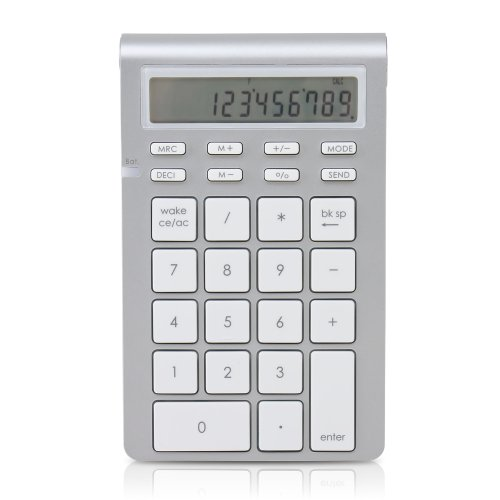 Satechi Aluminum Bluetooth Wireless 26-Key Smart Keypad and Calculator Keyboard Extension for 2017 iMac, MacBook Pro, MacBook, iPad, iPhone, Dell, Lenovo and More