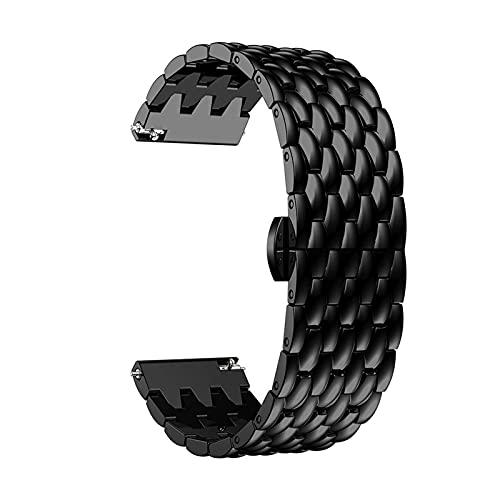 Strap De 22 Mm De Reloj De Reloj Para Huawei Watch GT 2 / GT2 / GT 2E Banda Inteligente Banda De Pulsera De Acero Inoxidable Pulsera De Aleación Para Galaxy Watch 46mm ( Color : Black , Size : 22MM )