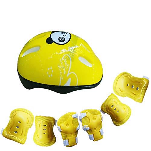 Kinder Fahrradhelm Schutzausrüstung, fahrradhelm, Kleinkindhelm verstellbar für Kinder/Jugendliche/Erwachsene, Knieschoner, ellenbogenschoner, handgelenkschutz, schutzausrüstung Set Skateboard