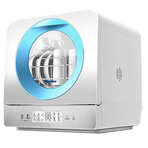 OCYE Tragbarer Geschirrspüler, Smart Home Geschirrspüler, Fernbedienung, 6 Waschfunktionen, geeignet für Büro, Wohnung, Wohnmobil-Blau