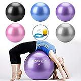 Gymnastik Ball Pilates Ball Gymnastikball Schwangerschaft Fitness Ball für Sitzball Büro, Pilates, Yoga, Exercices, Sport, Gym Zubehör rutschfest Explosionsschutz mit Ballpumpe