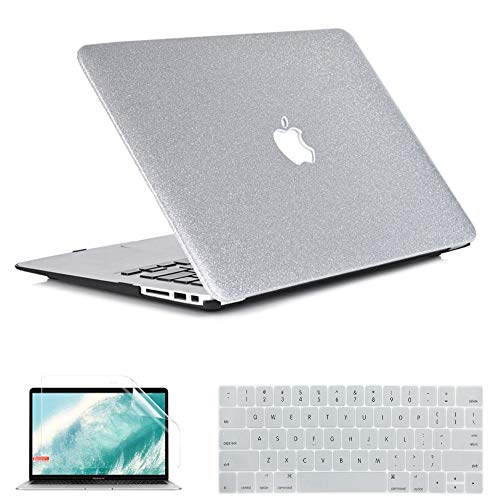 QYiD MacBook Pro 13 Inch case A1278 Release 2012-2008, Plastic Hard Shell Case Cover with Keyboard Cover & Screen Protector for Apple Old Version Mac Pro 13 with CD-ROM, Sliver