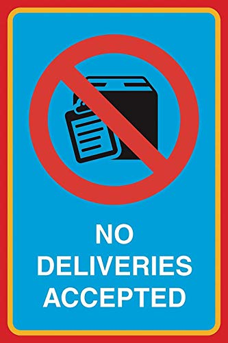 No Deliveries Accepted Cartel de chapa retro Cartel de metal Placa de...