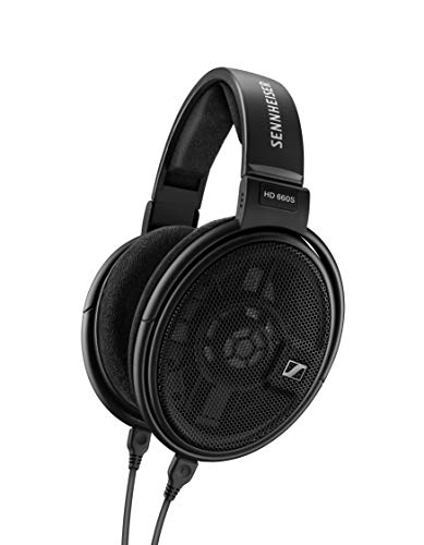 Sennheiser HD 660 S Cuffia Aperta Dinamica per Audiofili, Impedenza Nominale 150 Ohm, 9 – 41,500 Hz, Over Ear, Modello 2019, Nero