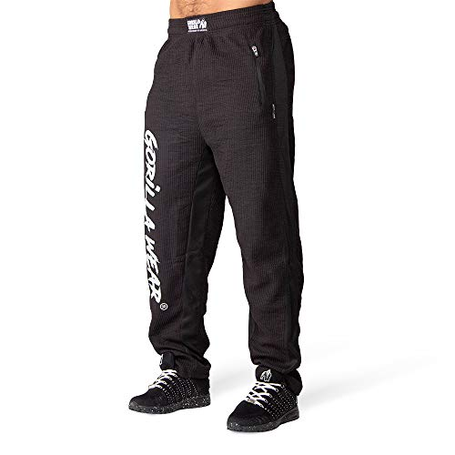 GORILLA WEAR - Augustine Old School Pants - schwarz - Bodybuilding und Fitness Bekleidung Herren, L/XL