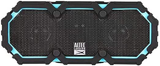 Altec Lansing IMW577-AB Lifejacket 2 Bluetooth Speaker, IP67 Waterproof, Shockproof, Snowproof, Everything-Proof Rating, 30-Foot Range, 30 Hours Of Battery Life, Aqua Blue