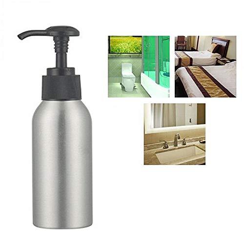 chunnron Dispensador Jabon Cocina Dosificador Jabon Baño Recargable Botella de plástico Cosmético de la Botella de la Bomba para la Familia y el Viaje 100ml