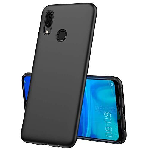 LAYJOY Funda Huawei P Smart 2019, Silicona Negro Suave Carcasa Ligera Gel TPU Bumper Case de Protectora Anti-Golpes Cover Caso para Huawei P Smart 2019-6.21 Pulgadas