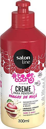 Creme Para Pentear #todecacho Vinagre de Maçã, 300ml, Salon Line, Salon Line, Branco, 300ml