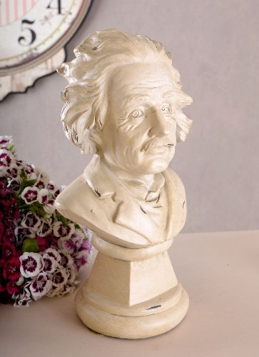 Albert Einstein Büste Staue Schreibtisch Physiker 24 cm hoch Skulptur Figur neu TVC053 Palazzo Exklusiv