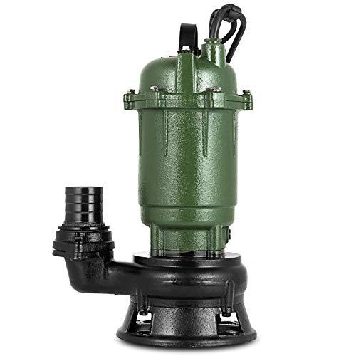 Husuper 30M Elektrische TauchpumpeHaushaltsabwasserpumpe 500 Watt Hochdruck Tauchpumpe für Brunnen Schmutzwasserpumpe Brauchwasser Restwasserpumpe für Pool Brunnen Aquarium 220V