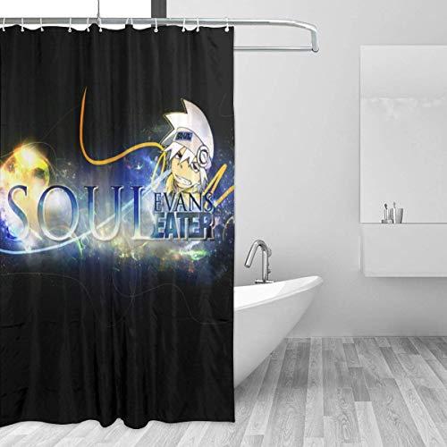 shenguang RWBY Pyrrha Nikos Home Decor Showman Cortina de Ducha de baño Tela Impermeable para baño (66 x 72 Pulgadas)