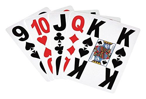 Eurosell 2 Stück Premium XL Kartenspiel Spielkarten Karton mit großen Zeichen für Senioren & Menschen mit Sehbehinderung Gessellschaftsspiel Spiel Kartenspiele