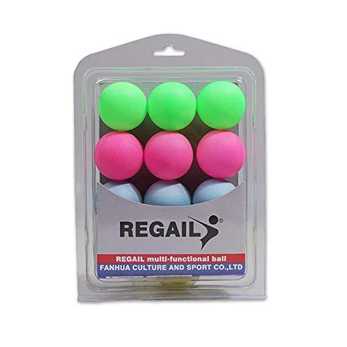 24 Bolas Tenis Mesa, Entretenimiento Plástico Colorido Bolas Ping Pong para Principiantes Adultos Entrenamiento para Niños, Decoraciones Fiesta, Mascotas, Lotería, Cerveza Pong, Juego Perros