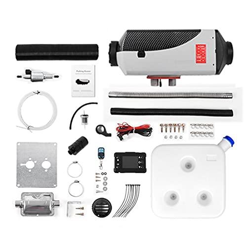 Calentador de automóviles 2/5 / 8kW, Calentador de Calefactor de Diesel de Aire de 24V con Control Remoto Monitor LCD para RV, Motorhome, Camiones, Barcos (Color : C, Size : 8KW)