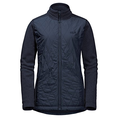 Jack Wolfskin 1203781-2501 Caribou Crossing Altis Damen Jacke absolut winddicht, midnight blue, L
