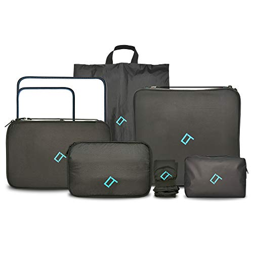 Qubix 6 Piece Premium Packing Cubes For Travel - Super Lite Travel Packing Cubes With Laundry Shoe Bag, Electronics Cube, Toiletry Cube - Travel Bag Vacation Essentials