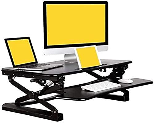 XKun Convertidor de escritorio de pie, mesa plegable de computadora