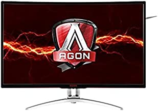 "AOC Agon AG322QCX 31.5"" Curved Frameless Gaming Monitor, QHD 2560x1440 VA Panel, FreeSync, 144Hz, 4ms, VESA (Renewed)"