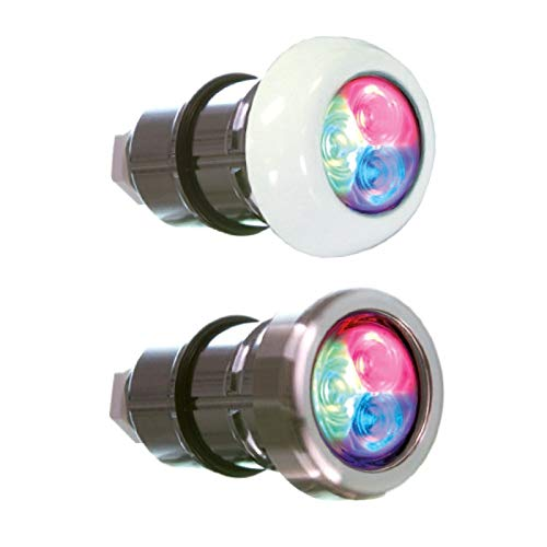 Fluidra LUMIPLUS Micro RGB DMX ACOPLE RAPIDO EMBELLECEDOR INOX Ref 64558