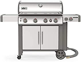 Weber 67006001 Genesis II S-435 4-Burner Natural Gas Grill, Stainless Steel