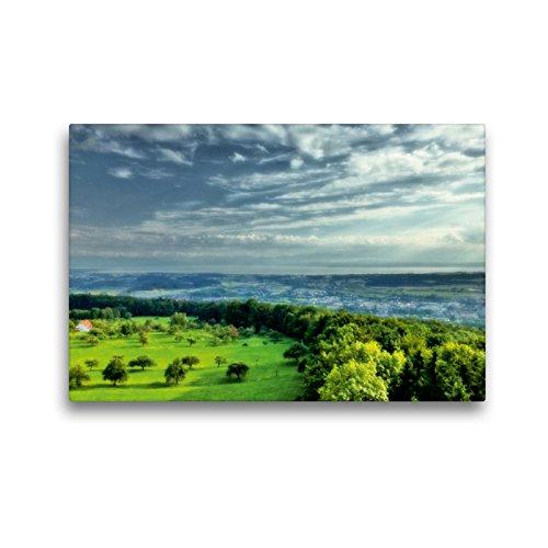 CALVENDO Premium Textil-Leinwand 45 x 30 cm Quer-Format Blick vom Gehrenberg-Aussichtsturm, Leinwanddruck von Sabine Hesse (vorher Brinker)