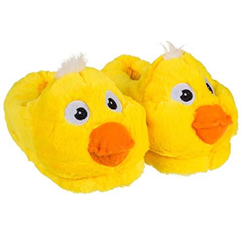 Marabella Hausschuhe Kuschel Ente gelb Gr. 31-42 Fun Kinderhausschuhe & Erwachsene, Schuhgröße:41-42
