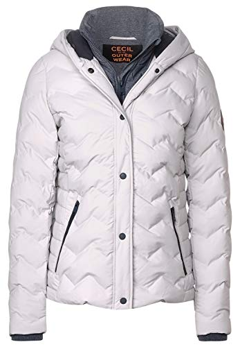 Cecil Damen Winterjacke in 2in1 Optik Quite Gray XXL