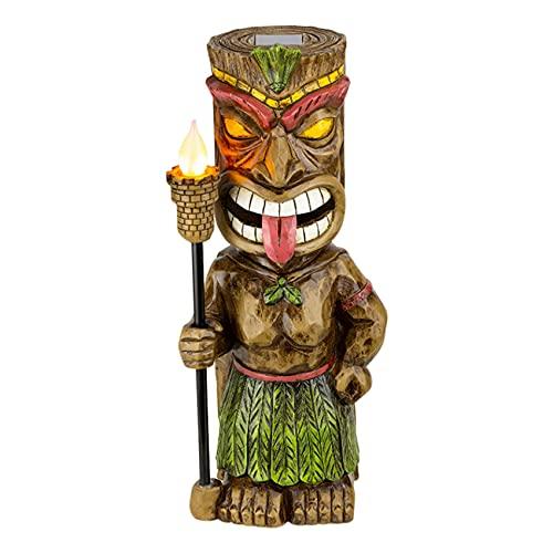 Coairrwy Antorcha TóTem Resina JardíN Luz Adornos al Aire Libre Retro Hawaiano Copa de Vino Escultura JardíN DecoracióN del Hogar Letrero de Puerta