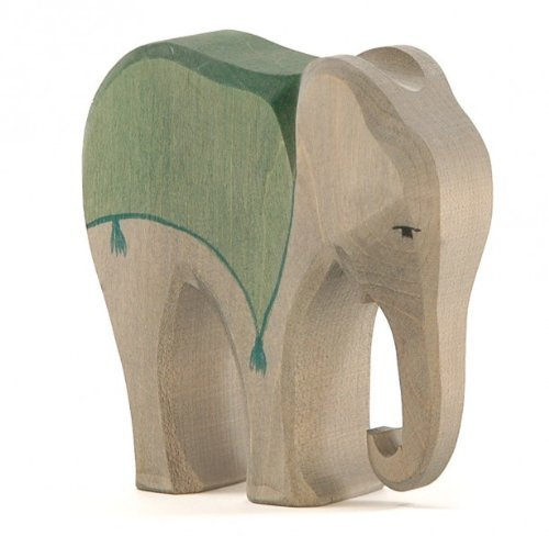 Ostheimer 41912 Elefant (Sattel) Höhe 14cm aus Holz