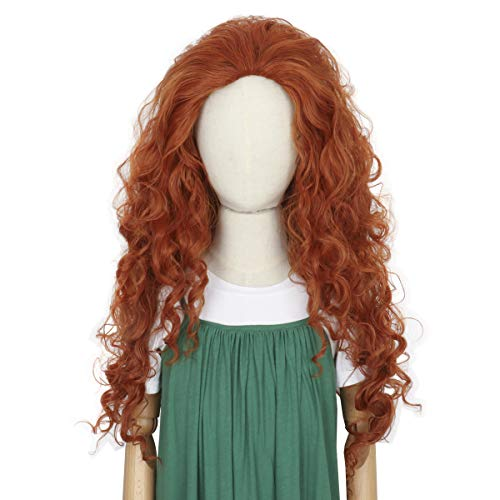 Cosela Princess Wig for Kids - Child Auburn Curly Fluffy Costume Halloween Wig Girl's Party Wig